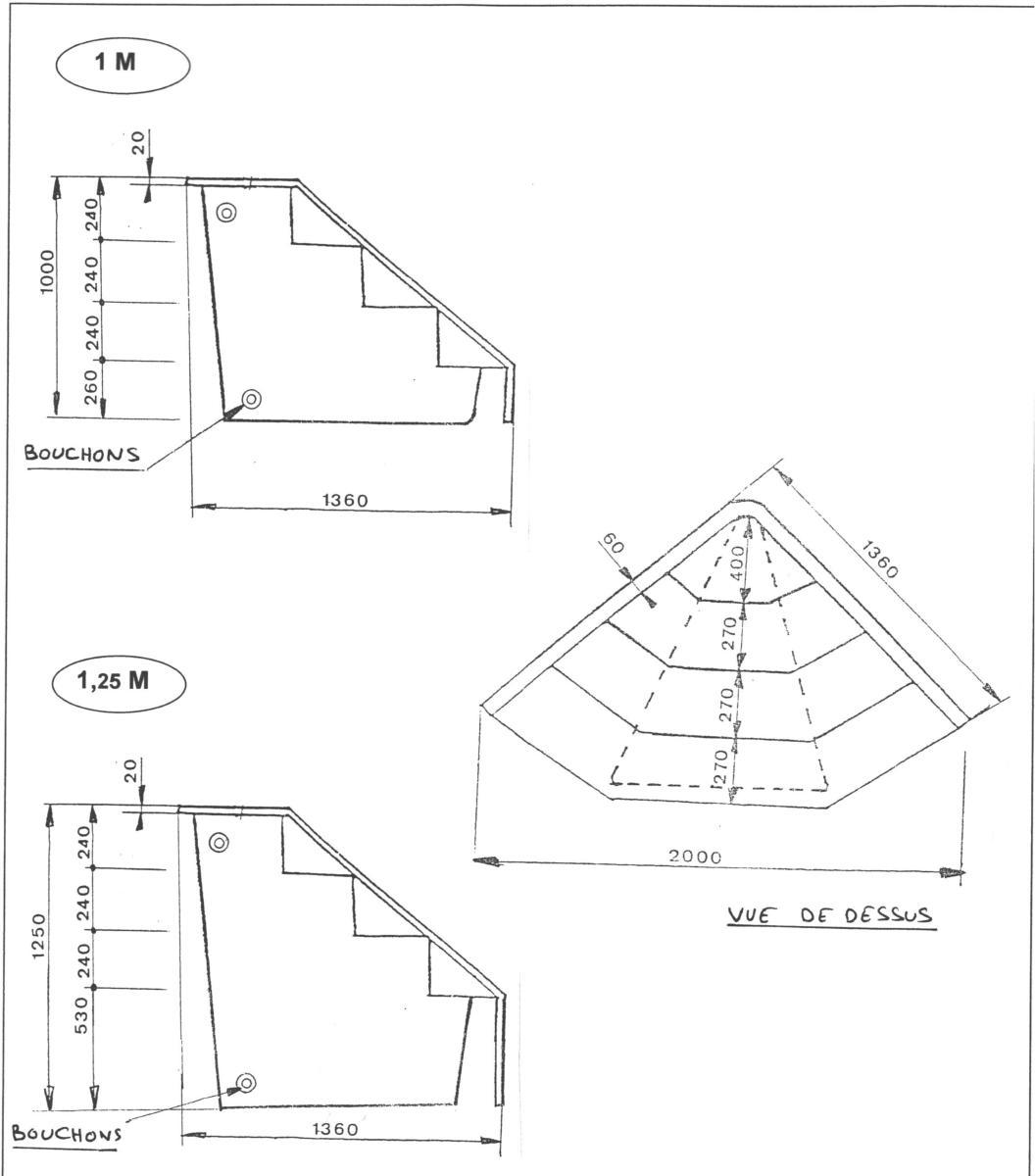 ... Escalier Du0027angle Pour Piscine à Poser Sur Le Fond De La Piscine (hauteur