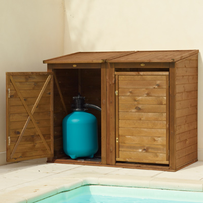 Local technique pour filtration en bois for Local technique piscine bois