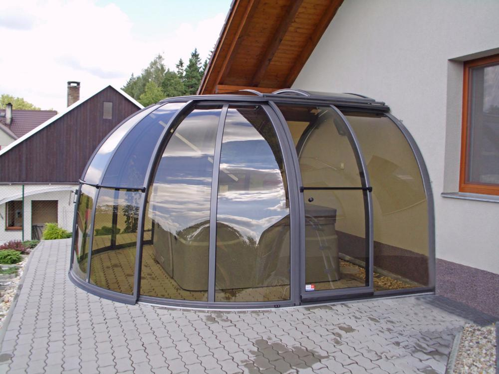 Abri pour spa oasis small for Abris spa exterieur
