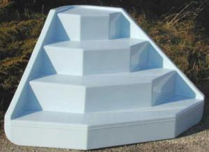Escalier d 39 angle pour piscine poser - Escalier piscine sur liner ...