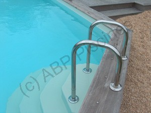 Escalier pour piscine poser mod le cyb le - Escalier piscine a poser sur liner ...