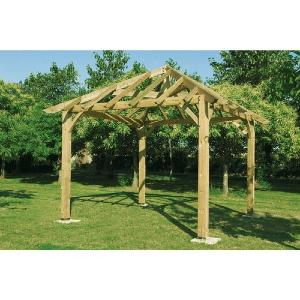 Carbet / Gazebo Durapin - 4 x 4 m - sans toiture